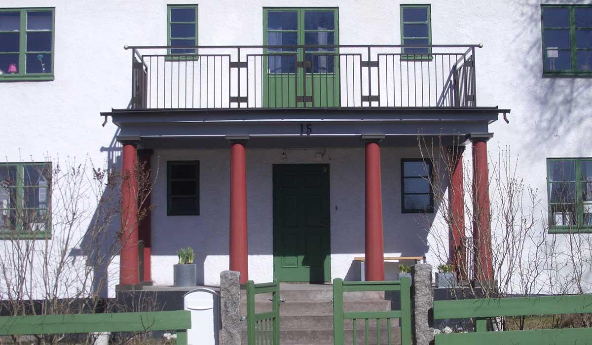 Ny veranda och balkong